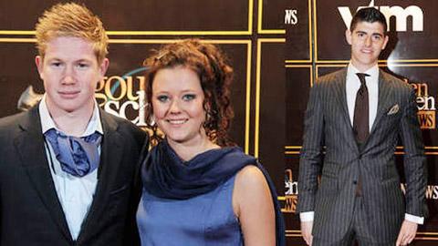De Bruyne độ lượng với Courtois và vui duyên mới bên Michele (ảnh dưới)