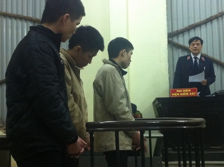 Nhóm đạo chích tại phiên xét xử