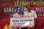 Người trúng 82 tỉ tại An Giang làm từ thiện 100 triệu đồng