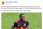 Man Utd xác nhận chiêu mộ thành công Lukaku
