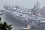 Rộ tin Mỹ đưa 2 tàu sân bay áp sát Triều Tiên, Washington nói gì?