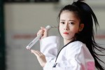 Hot-girl Taekwondo rinh vàng cho đoàn Việt Nam