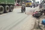 Người đàn ông bị bánh xe container cán tử vong sau va chạm