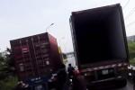 Kiểm tra vụ hai xe container dàn hàng ngang, cản trở lưu thông trên đường vành đai