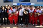 10 vận động viên Triều Tiên đi máy bay tới Hàn Quốc dự Olympic