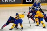 Đội hockey nữ liên Triều đấu giao lưu với đội Thụy Điển