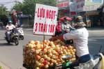 """Lựu Trung Quốc """"3 trái 10.000"""" bán đầy đường Sài Gòn"""