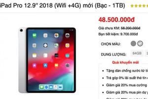iPad Pro mới được chào giá gần 50 triệu đồng ở Việt Nam