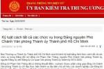 Cách tất cả các chức vụ trong Đảng nguyên Phó Chánh Văn phòng Thành ủy TP.HCM