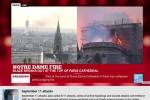 YouTube nhầm vụ cháy Nhà thờ Đức bà Paris là vụ khủng bố 11/9