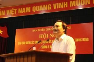 Bộ trưởng Nhạ: Xử lý nghiêm cả phụ huynh lẫn học sinh gian lận thi cử