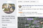 Cảnh báo giả mạo Facebook Hiệp hội Bất động sản TP.HCM môi giới, chào bán đất