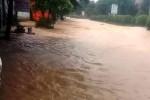 Thanh Hóa: Mưa lớn do bão số 4, thị trấn miền núi Ngọc Lặc ngập sâu