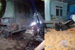 Xe tải lao vào nhà dân ở Sơn La, 2 vợ chồng đang ngủ chết tại chỗ