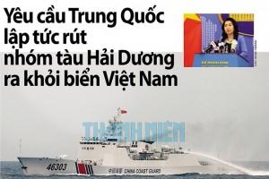 Yêu cầu Trung Quốc lập tức rút nhóm tàu Hải Dương ra khỏi biển Việt Nam