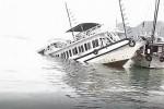 Tàu du lịch bị tàu chở đá đâm chìm trên vịnh Hạ Long