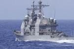 Tàu chiến Mỹ đi qua eo biển Đài Loan