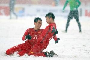 """""""Cầu vồng trong tuyết"""" của Quang Hải chính thức làm biểu tượng Giải U.23 Châu Á 2020"""