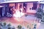 Con trai tưới xăng đốt cha ruột khiến 1 người chết và 3 bị thương