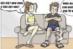 Hậu quả khi cùng vợ xem World Cup