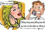Khi gọi cho vợ bằng điện thoại thằng bạn thân