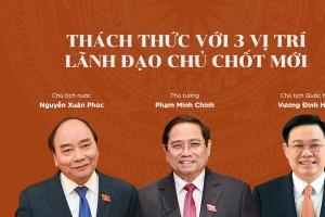 Thách thức với 3 vị trí lãnh đạo chủ chốt mới