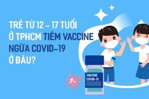 Trẻ từ 12-17 tuổi ở TP.HCM tiêm vaccine ngừa Covid-19 ở đâu?