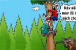 Nhà thám hiểm sợ xanh mặt vì gấu chưa đọc sách