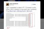 Laptop HP dính keylogger nguy hiểm