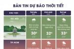 Bắc Bộ hửng nắng, Nam Bộ mưa dông kèm gió mạnh