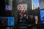 Sàn Nasdaq đăng ảnh ký kết IPO với VNG trên màn hình ở New York
