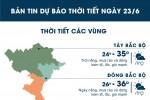 Sài Gòn mưa lớn cả ngày, Hà Nội nắng nóng