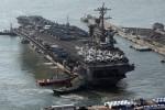 Siêu tàu sân bay Mỹ tập trận với Hàn Quốc sát vùng biển Triều Tiên