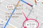 Google Maps thử nghiệm đếm lượng calorie khi đi bộ