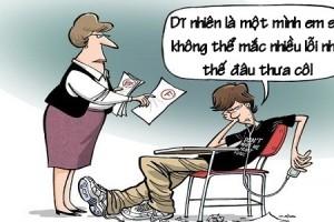Hậu quả khi cùng bố làm bài tập