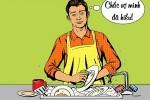 Vợ 'đứng hình' trước nguyên nhân chồng làm việc nhà