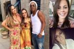 'Chuyện tình tay ba' của Ronaldinho và hai người đẹp
