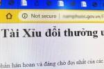 Quảng cáo game đánh bài trong website gov.vn